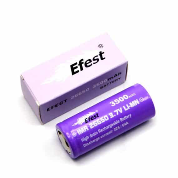 Batteries and Chargers - Efest IMR 26650 purple 3500 mAh