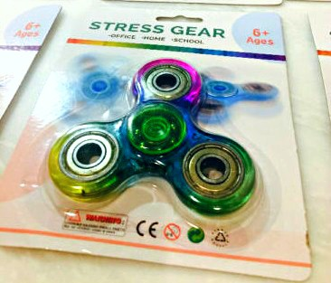 Transparent Rainbow Fidget Spinner Canada