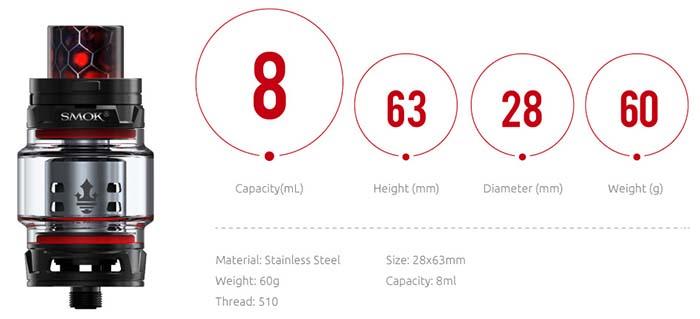 Smok TFV12 Prince Tank Specs Canada