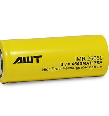 Batteries and Chargers - AWT Yellow 26650 4500 mAh 75A Battery