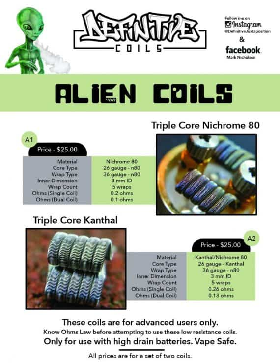 Accessories & Replacement Parts - Definitive Alien Coils Canada