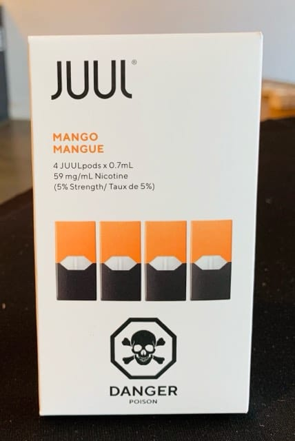 JUUL Mango Pods - 1 5%, 3% or 5% (Pack of 4) Canada >> VapeVine ca