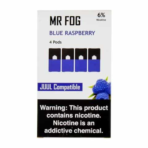 Mr Fog Blue Raspberry Juul Compatible Pods Canada