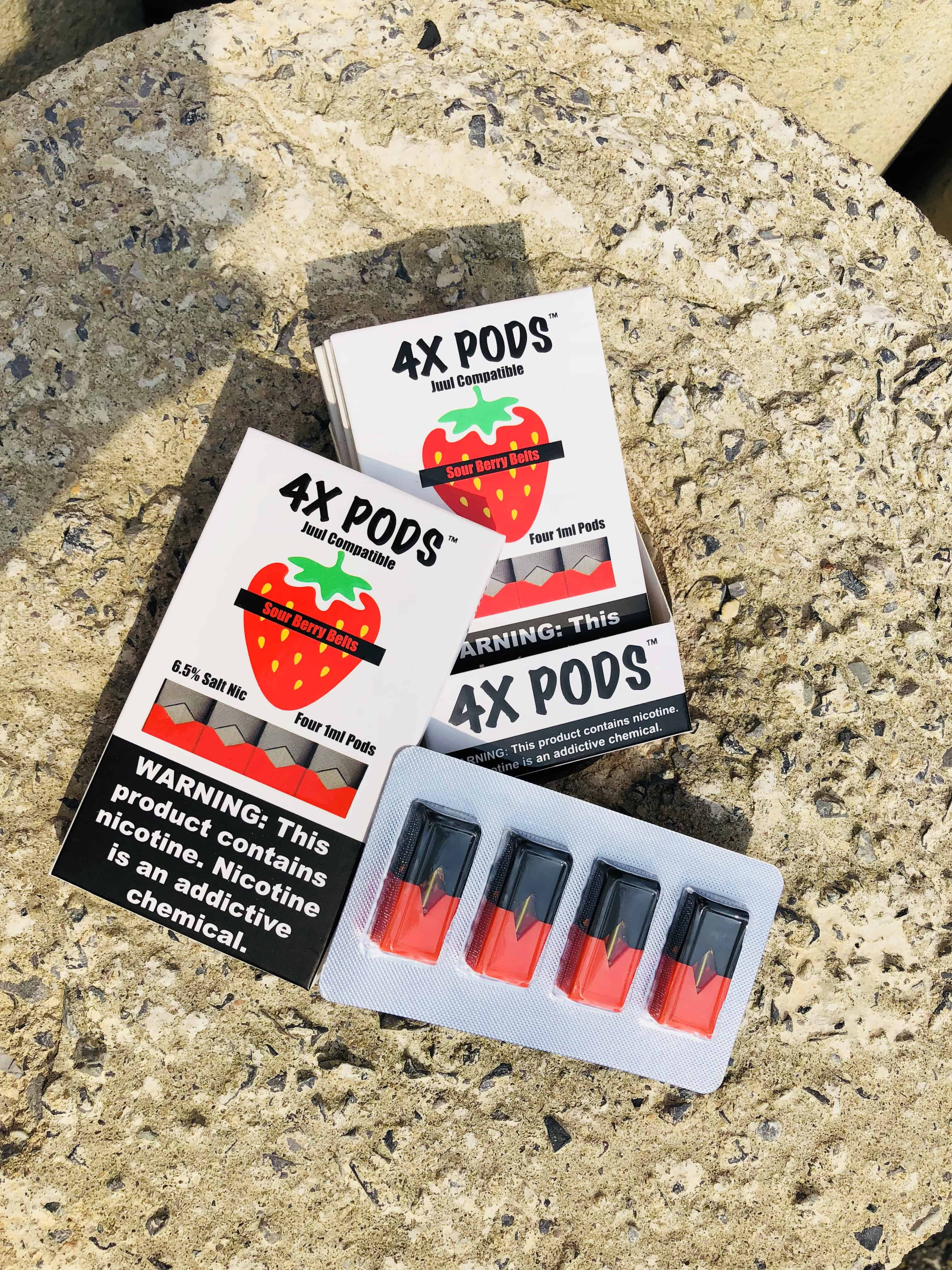 4X Sour Berry Belts Pods JUUL Compatible