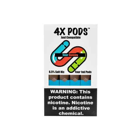4X Sour Gummy Pods JUUL Compatible