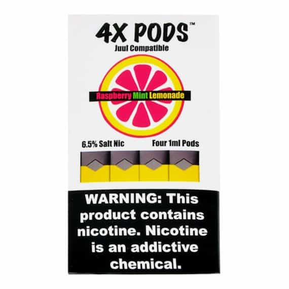 4X Pods Raspberry Mint Lemonade for JUUL Canada