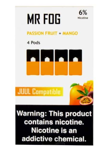 Mr. Fog Passion Fruit & Mango JUUL Pods 4-Pack Canada