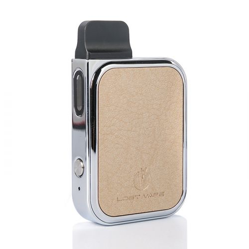Lost Vape PRANA 12W Pod System Leather Champagne Gold Canada