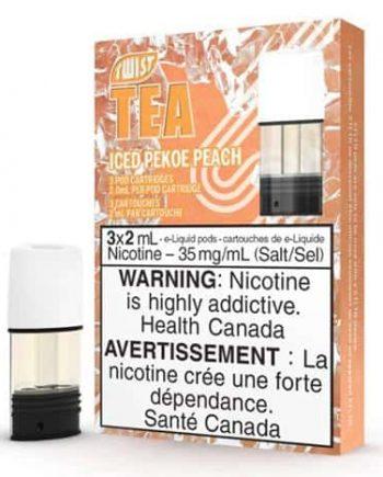 STLTH Pods Twist Tea Pekoe Peach Canada