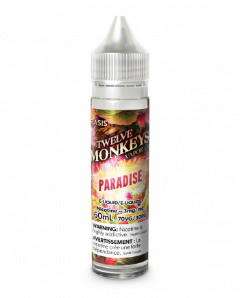 "Twelve Monkeys E-Liquid (60ml) ""Paradise"" Canada"