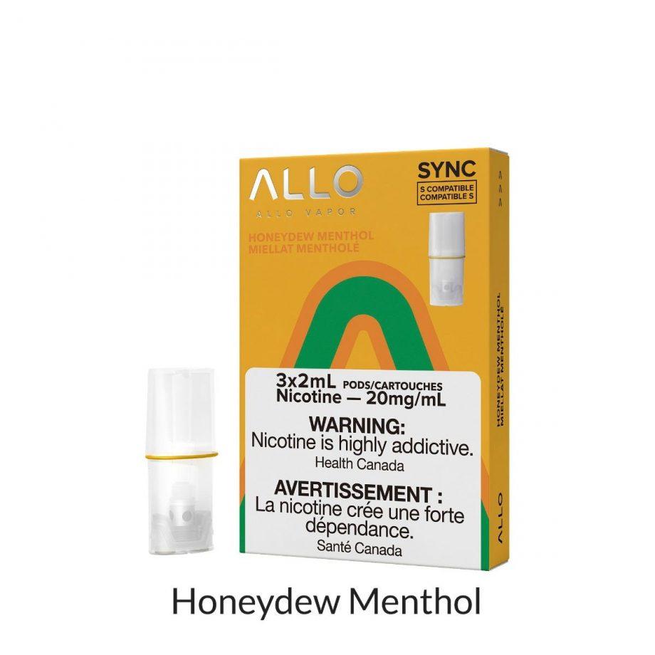 Allo Sync Honeydew Menthol Pods Canada