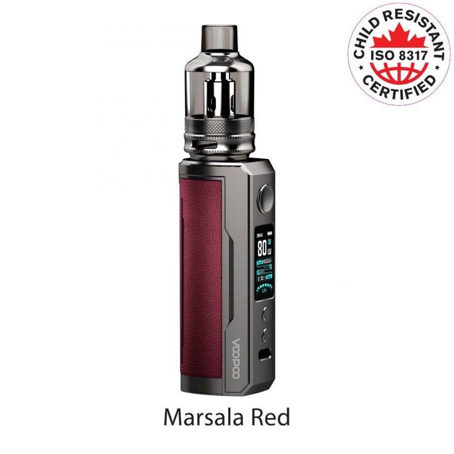 "*CRC* VooPoo Drag X Plus Starter Kit ""Marsala Red"" Canada"