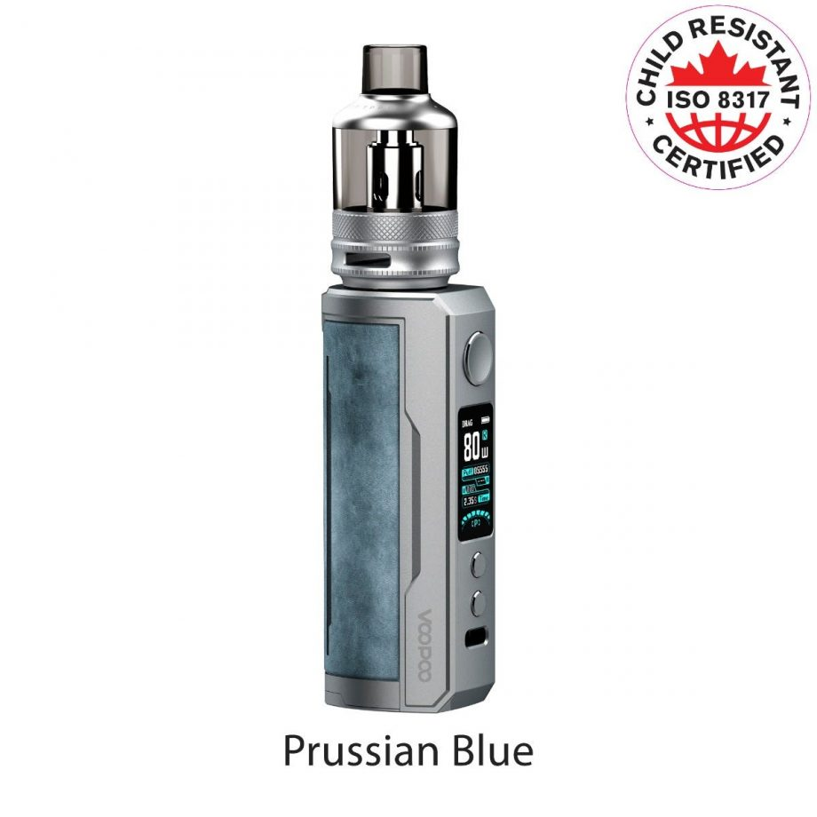 """*CRC* VooPoo Drag X Plus Starter Kit """"Prussian Blue"""" Canada"""