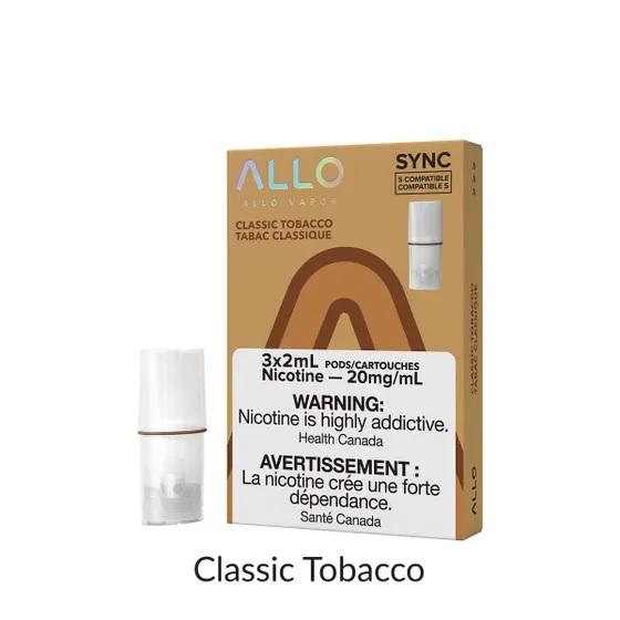 Allo Sync Classic Tobacco Pods Canada