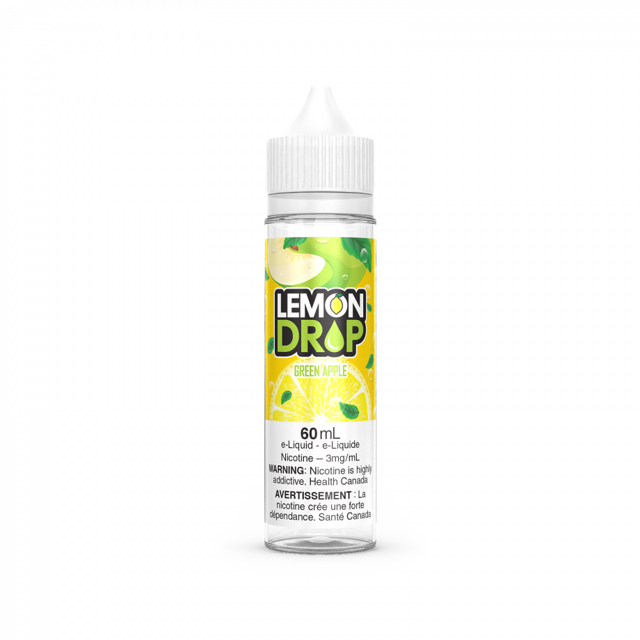 "Lemon Drop E-Liquid ""Green Apple"" (60ml) Canada"